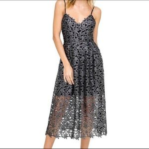 Astr the Label Lace Midi Dress S